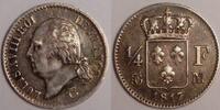 1/4 Franc 1817 M France / Frankreich Louis XVIII Sehr schön  400,00 EUR  zzgl. 12,00 EUR Versand