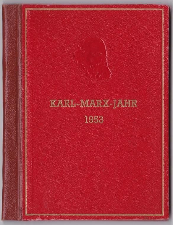 Div 1953 Ddr Karl Marx Jahr Buch Gestempelt Ma Shops