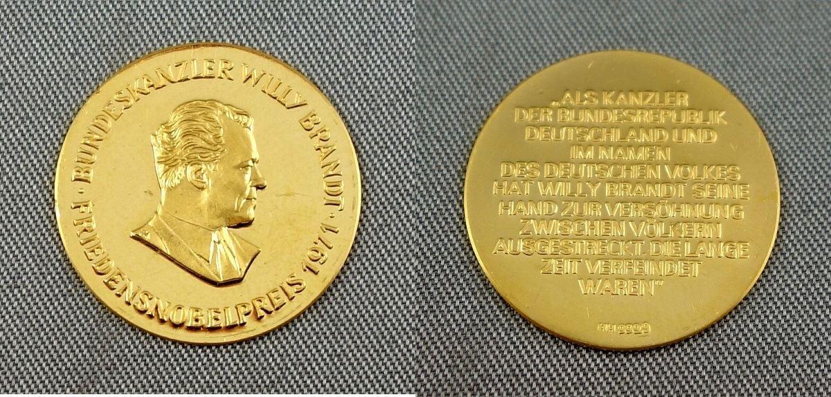1971 BRD Erinnerungsmedaille -Bundeskanzler Willy Brandt ...