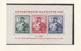 Amerikanische / Britische Zone Block Expomesse Hannover 1949