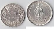 Schweiz 1 und 2 Franken 1 Franken 1920 B, 2 Franken 1920 B  Schweiz