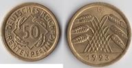 Deutsches Reich 50 Rentenpfennig Kursmünze