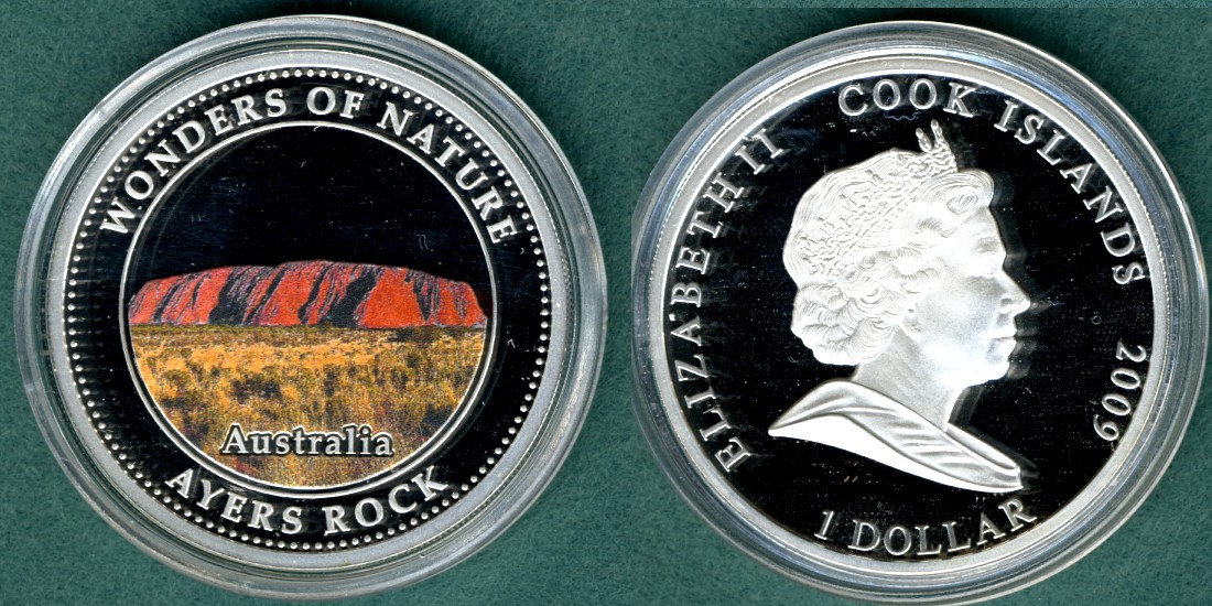 1 Dollar 2009 Cook Islands Wunder der Natur - Ayers Rock PP