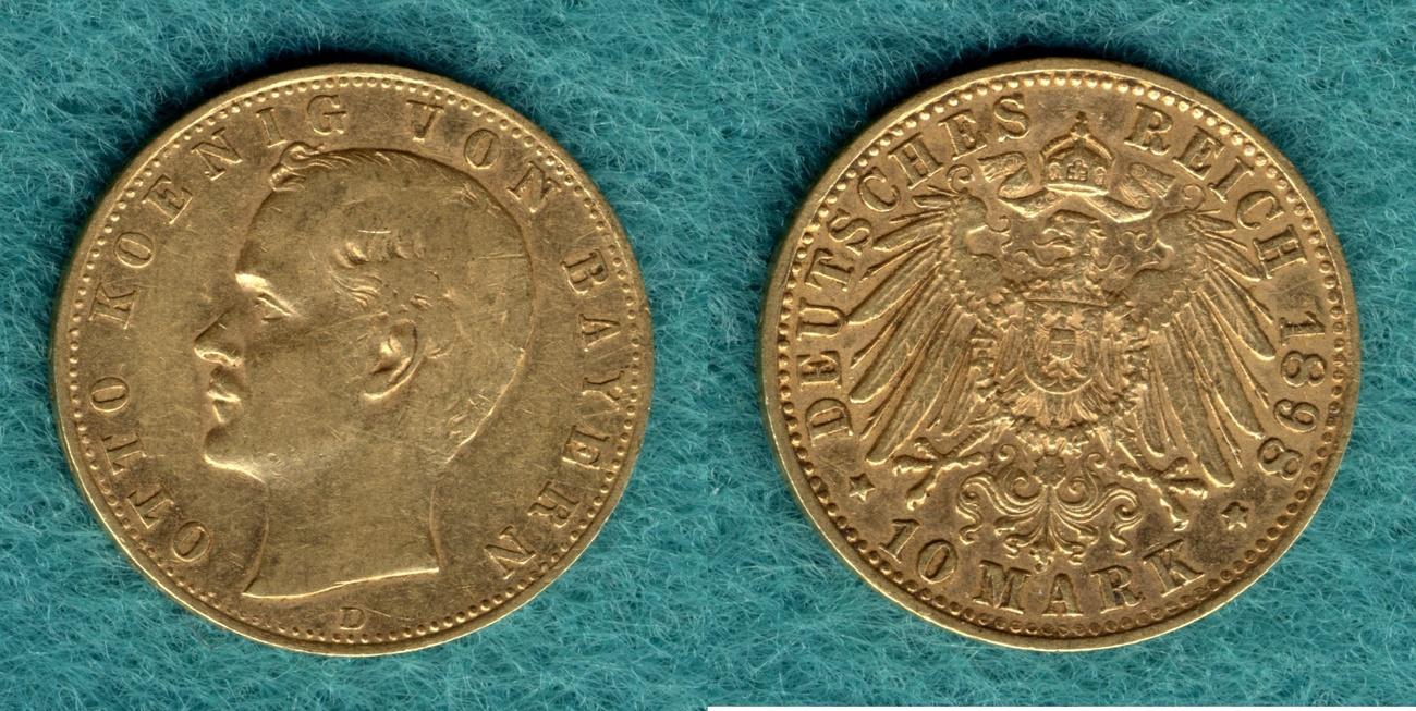 10 Mark 1898 D Bayern Otto ss