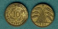 10 Reichspfennig 1928 G Weimarer Republik J.317 f.ss  69,00 EUR  zzgl. 4,90 EUR Versand