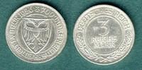 3 Reichsmark 1926 A Weimarer Republik Lübeck vz  95,00 EUR  zzgl. 4,90 EUR Versand