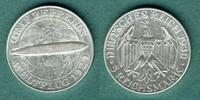 5 Reichsmark 1930 A Weimarer Republik Zeppelin vz  145,00 EUR  zzgl. 4,90 EUR Versand