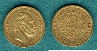 20 Mark 1887 A Preussen Wilhelm I. ss/vz  325,00 EUR kostenloser Versand