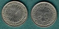 50 Reichspfennig 1933 J Weimarer Republik J.324 ss/vz  79,00 EUR  zzgl. 4,90 EUR Versand