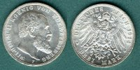 3 Mark 1914 F Württemberg Wilhelm II. vz/stgl.  39,00 EUR  zzgl. 3,90 EUR Versand