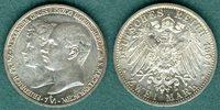 2 Mark 1904 A Mecklenburg-Schwerin Friedrich Franz IV. und Alexandra vz  69,00 EUR  zzgl. 4,90 EUR Versand