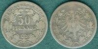 50 Pfennig 1877 H Kaiserreich J.8 s/ss  39,00 EUR  zzgl. 3,90 EUR Versand