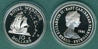 10 Dollars  1981 Ostkaribische Staaten Hochzeit von Prinz Charles und L... 34,90 EUR  zzgl. 3,90 EUR Versand