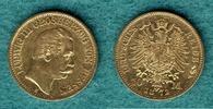 10 Mark 1872 H Hessen Ludwig III. ss/vz, Kratzer  389,00 EUR kostenloser Versand
