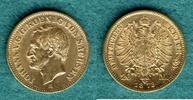 20 Mark 1873 E Sachsen Johann ss+, kl. Rf.  415,00 EUR kostenloser Versand