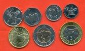 BOTSWANA 5 C - 5 Pula KMS 7 Werte 1 C - 5 Pula 2013 neue Kursmünzen Tiere, Bimetall stfr.