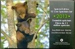 KANADA 3,90 Dollar SPECIMEN Set 2013,mit 2 Dollar junge Bären nur in diesem Set stf BU