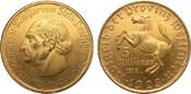 5 Millionen Mark Westfalen 3-zeilig 1923 Kolonien und Nebengebiete  wz. Kratzer, vorzüglich / Stempelglanz