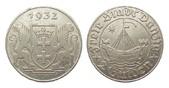 2 Gulden Danzig 1932 Kolonien und Nebengebiete  min. Rf., fast vorzüglich  /  vorzüglich