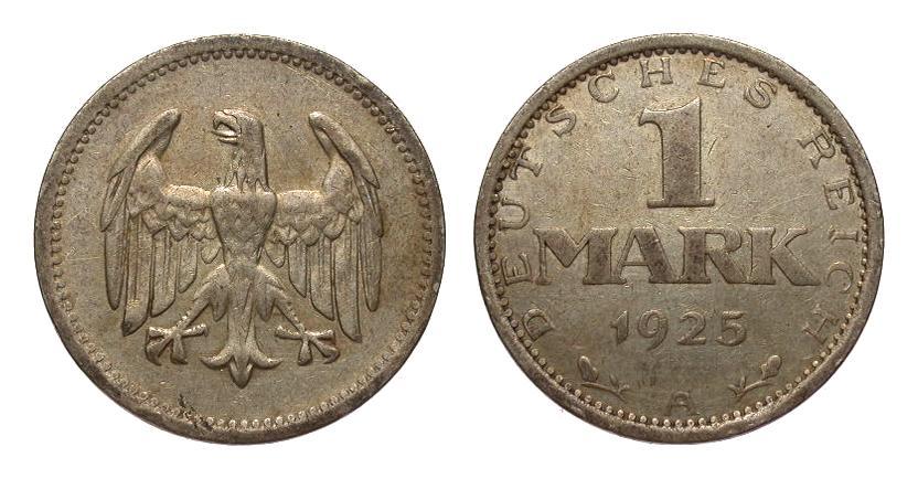 1 Mark 1925 A Weimarer Republik sehr schön