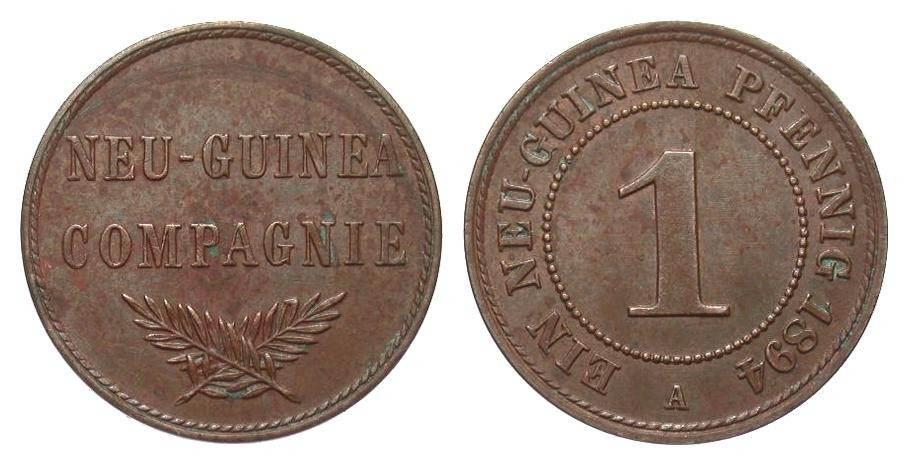 1 Pfennig Neu-Guinea 1894 A Kolonien und Nebengebiete gutes vorzüglich