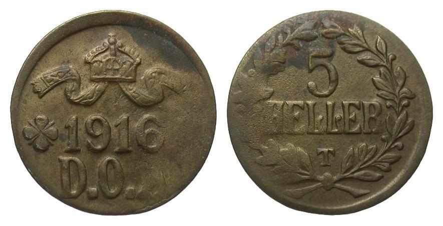 5 Heller 1916 T Kolonien und Nebengebiete fast vorzüglich