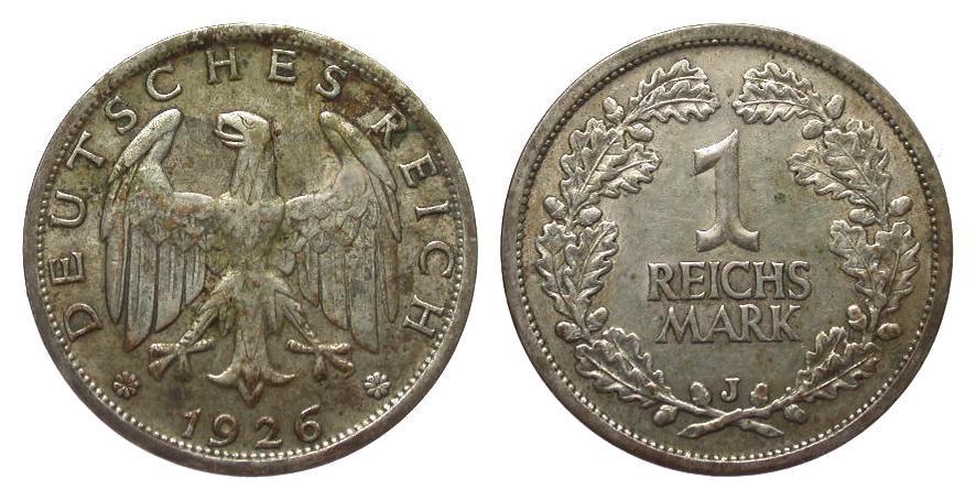 1 Mark 1926 J Weimarer Republik gutes sehr schön