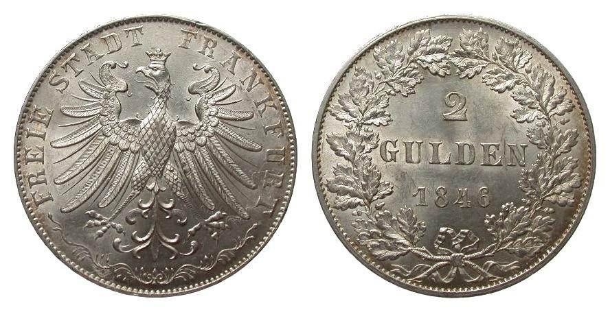 Frankfurt doppelgulden 1846 deutsche m nzen vor 1871 wz for Weller frankfurt