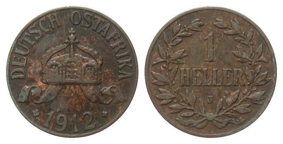1 Heller 1912 J Kolonien und Nebengebiete sehr schön