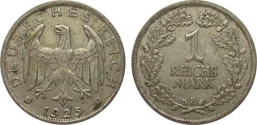 1 Mark 1925 E Weimarer Republik gutes sehr schön