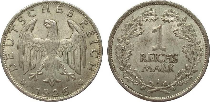 1 Mark 1926 A Weimarer Republik fast vorzüglich