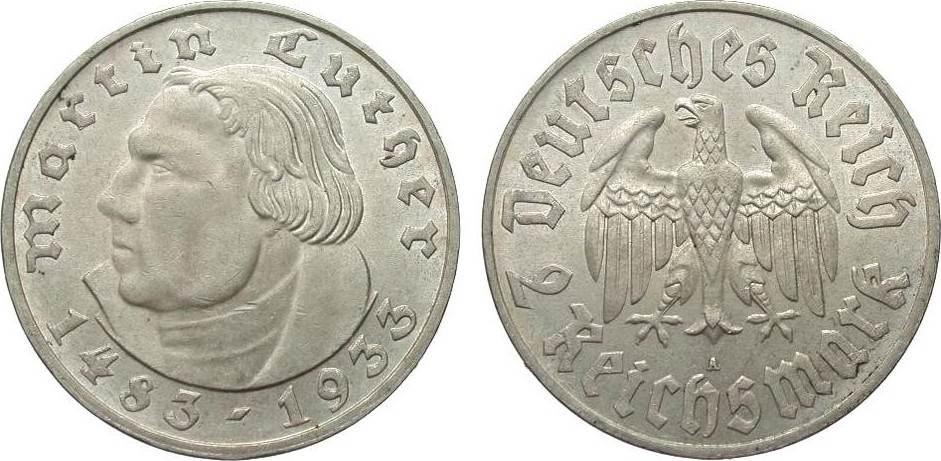 2 Mark Luther 1933 A Drittes Reich besser als vorzüglich