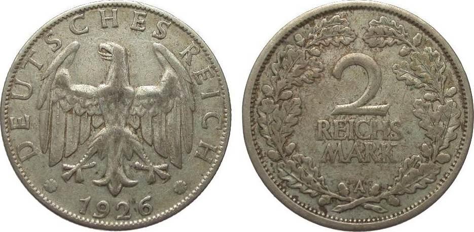 2 Mark 1926 A Weimarer Republik sehr schön
