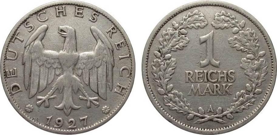 1 Mark 1927 A Weimarer Republik sehr schön