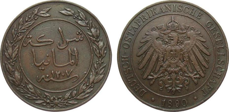 1 Pesa 1890 Kolonien und Nebengebiete Randfehler, sehr schön