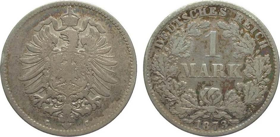 1 Mark 1873 C Kaiserreich schön
