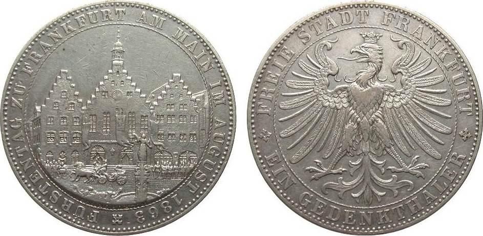 Frankfurt vereinstaler f rstentag 1863 altdeutschland bis for Weller frankfurt