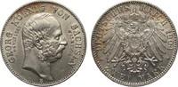 Kaiserreich 2 Mark Sachsen Georg auf den Tod
