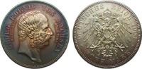 Kaiserreich 5 Mark Sachsen Georg auf den Tod