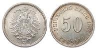 50 Pfennig 1875 B Kaiserreich  vorzüglich / Stempelglanz  115,00 EUR  zzgl. 4,00 EUR Versand