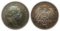3 Mark Sachsen 1911 E Kaiserreich  wz. Kratzer, polierte Platte  265,00 EUR kostenloser Versand