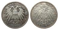 3 Mark Lübeck 1909 A Kaiserreich  vorzüglich / Stempelglanz aus EA  225,00 EUR  zzgl. 4,00 EUR Versand
