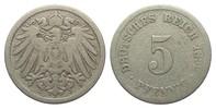5 Pfennig 1892 J Kaiserreich  schön  75,00 EUR  zzgl. 4,00 EUR Versand