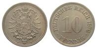 10 Pfennig 1876 G Kaiserreich  vorzüglich  26,00 EUR  zzgl. 4,00 EUR Versand