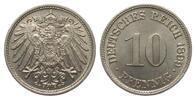 10 Pfennig 1899 F Kaiserreich  min. Kratzer, fast Stempelglanz  65,00 EUR  zzgl. 4,00 EUR Versand