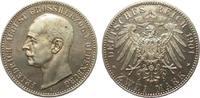 2 Mark Oldenburg 1901 A Kaiserreich  min. Haarlinien, polierte Platte  1395,00 EUR kostenloser Versand