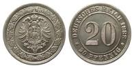 20 Pfennig 1888 D Kaiserreich  vorzüglich / Stempelglanz  55,00 EUR  zzgl. 4,00 EUR Versand