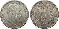 2 Mark Württemberg 1904 F Kaiserreich  Bildseite vz/St, Adlerseite f.St  75,00 EUR  zzgl. 4,00 EUR Versand