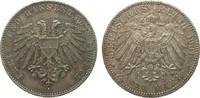 2 Mark Lübeck 1901 A Kaiserreich  fast vorzüglich  325,00 EUR kostenloser Versand