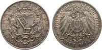 2 Mark Bremen 1904 J Kaiserreich  vorzüglich / Stempelglanz  110,00 EUR  zzgl. 4,00 EUR Versand